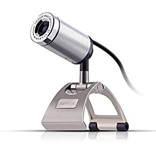 Webcam 720P, PAPALOOK PA150 HD Web Camera High Definition with Built-in Microphone for PC, USB Computer Camera for Skype Online Chatting, Plug and Play Web Cam Widescreen Video Calling and Recording for Laptop Desktop, Compatible with Windows 7 / 8 / 10
