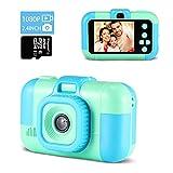Digitalkamera Kinder,TekHome Kinderkamera ab 3 4 5 6 Jahre,Spielzeug ab 7-10 Jahre Jungen,Weihnachten Geburtstag Geschenke für Junge,2,4' Fotoapparat Kinder 1080P HD Video Kamera,32GB SD Karte-Blau