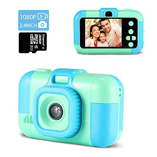 Digitalkamera Kinder,TekHome Kinderkamera ab 3 4 5 6 Jahre,Spielzeug ab 7-10 Jahre Jungen,Weihnachten Geburtstag Geschenke für Junge,2,4