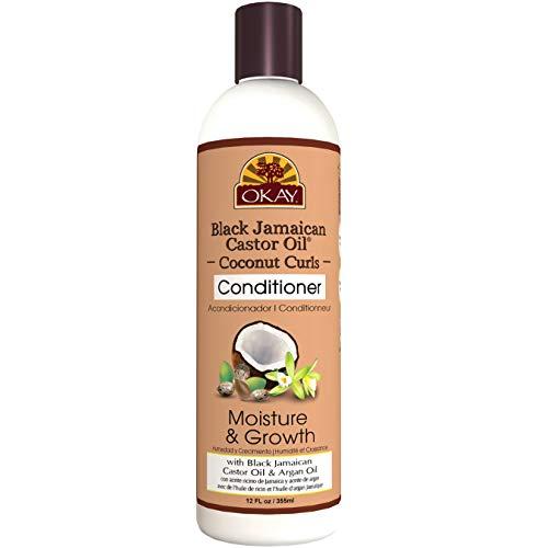 Okay Acondicionador Black Jamaican Castor Oil & Coconut Humedad y Crecimiento -...