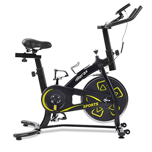 Bicicletas Estáticas de Spinning Ajustables Bicicleta Fitness con Volante 8KG Pantalla LCD, Bicicleta de Ejercicios Aeróbicos Sport para Casa Gym Interiores Ejercicios Cardiovasculares [EU Stock]