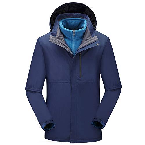 TBATM Le Manteau des Hommes du Brochet, Extérieur Coupe-Vent Imperméable 3 en 1 Veste Épaississent La Laine Détachable Intérieure Sportswear De Banlieue,H,M