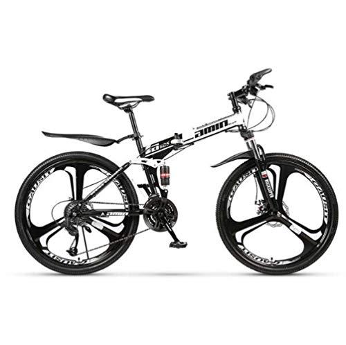 LFEWOZ Folding Mountain Cruiser BMX Biciclette Fuoristrada Bici a velocità variabile Città Bicicletta per Adulti Donne degli Uomini Teens Freno a Disco