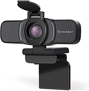 Amcrest 1080P Webcam with Microphone & Privacy Cover Web Cam USB Camera Computer HD Streaming Webcam for PC Desktop & Laptop w/ Mic Wide Angle Lens & Large Sensor for Superior Low Light  AWC201-B