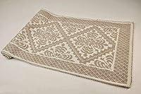 casa tessile tappeto cotone alghero colors - tortora, 75x130 cm.