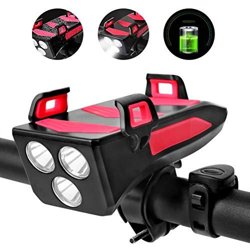 WBTY - Juego de luces USB recargables para bicicleta, faro frontal, luz...