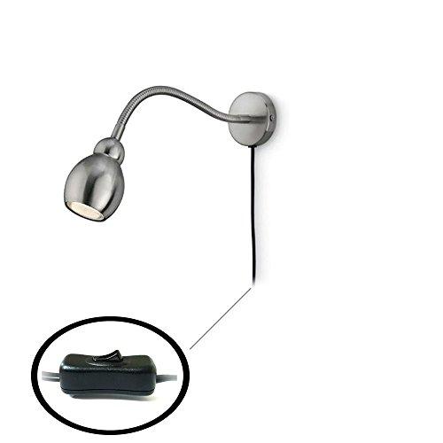 Philips Spot Leseleuchte mit flexiblen Arm, Wandleuchte, Energiesparend 1 x 10 W/Leselampe inkl. Leuchtmittel, matt chrom 63000/17/16