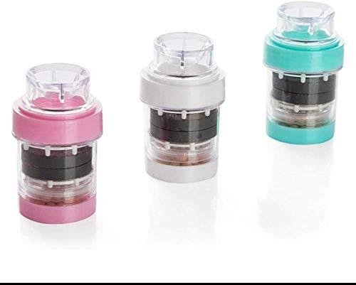 Filtro de agua del grifo, 3 unids mini filtro de agua grifo purificador de agua grifo a prueba de salpicaduras filtro de agua saludable accesorios de cocina