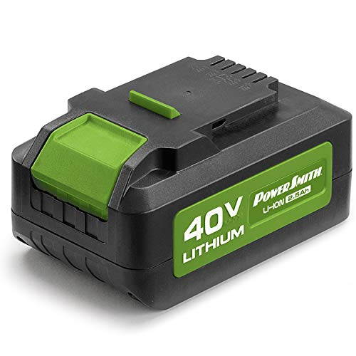PowerSmith PLB14025 40V Max 2.5Ah Lithium-Ion Battery - Replacement Battery for PowerSmith's Rechargeable, Battery-Powered Lawn Tools. Only compatible with PowerSmith 40V products.