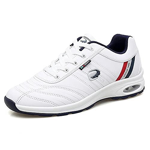 Lanzhi Zapatos de Golf para Hombre Impermeables y cómodos Zapatillas de Deporte de bádminton Ligeras Zapatillas Deportivas Zapatillas de Golf Transpirables Antideslizantes sin púas