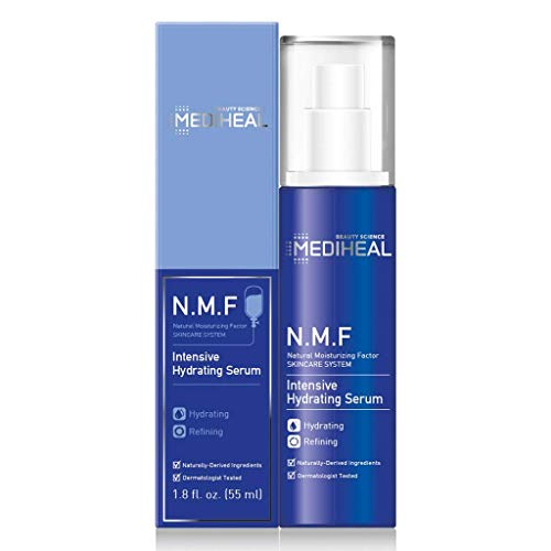 MEDIHEAL [US Exclusive Edition] - N.M.F Intensive Hydrating Serum, Ultra Hydrating Treatment Facial Serum, Skin Feeling Silky Soft, for Dry and Rough Skin