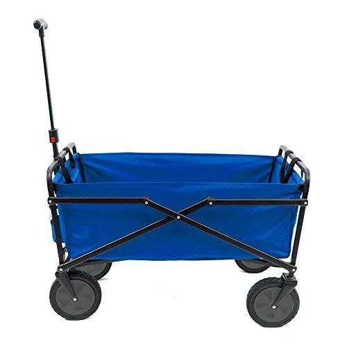 Seina Manual 150 Pound Capacity Heavy Duty Folding Outdoor Utility Cart, Blue