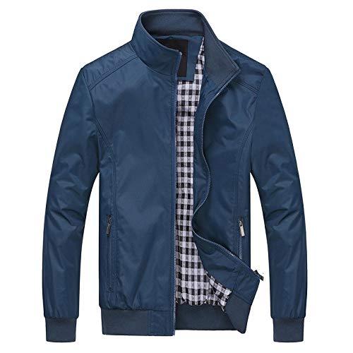 Mode Männer M-6XL Männer Jacken Mäntel Frühling Herbst Mode Stand Kragen Freizeitjacke für Männer Outwear Herren Arbeitskleidung -D_M