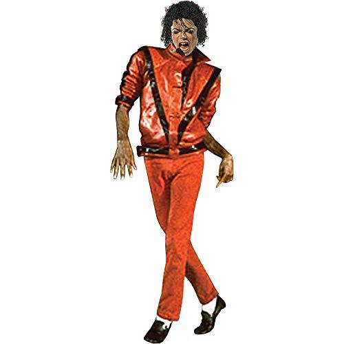Charades Men's Michael Jackson Thriller Jacket, Red/Black, Large