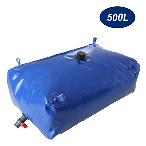 Household Large-Capacity Water Storage Bag, Thickened Large Vehicle-Mounted Water Storage Tank, Foldable Water Collection Container with Valve, Used for Car Washing/Garden/Farm