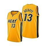 ZYJL Adebayo - Camiseta de baloncesto para hombre, 2021 Heat 13 #, color amarillo, tejido transpirable y de secado rápido (S-XXL) S
