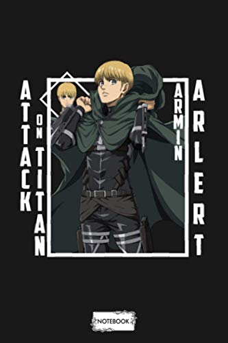 Attack On Titan Armin Arlert Notebook: Lined College Ruled Paper, 6x9 120 Pages, Diary, Matte Finish Cover, Planner, Journal