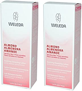 Weleda Hypo-allergenic and Fragrance Free Sweet Almond Facial Cleanser for Sensitive Skin with Plum kernel oil, 2.5 fl. oz. (Pack of 2)