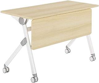 طاولات راقية قابلة للطي، مكتب كمبيوتر كبير للكتابة على سطح المكتب وغرفة الدراسة وغرفة الدراسة والمكتب (اللون: 120 * 50 * 7...