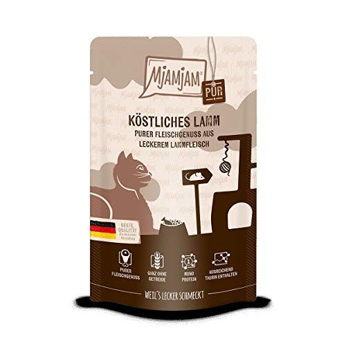 Katzen Nassfutter: purer Fleischgenuss - köstliches Lamm pur - 12er-Pack, hoher Fleischanteil