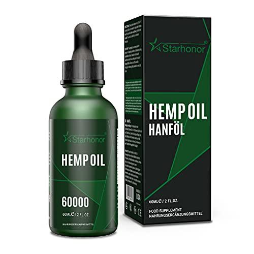Starhonor® Aceite prémium con certificado que contiene ácidos grasos omega no saturados 100% veganos (60000 mg 60 ml).
