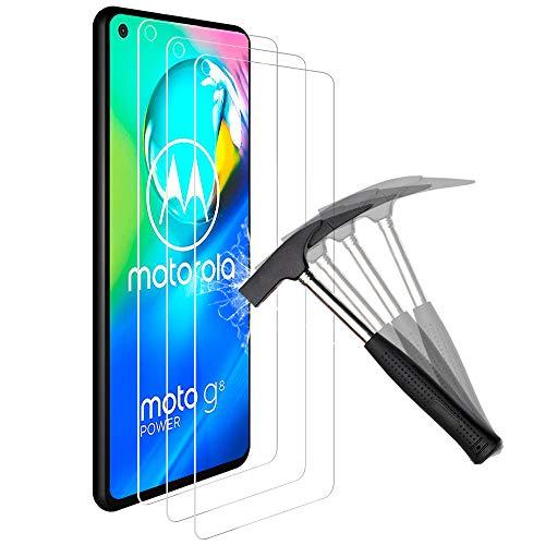 ANEWSIR 3 Stück Panzerglas für Motorola Moto G8/G8 Power/Moto G PRO Schutzfolie, Anti-Bläschen, Anti-Kratzen, Displayschutz Displayschutzfolie Folie für Moto G8/Moto G8 Power/Moto G PRO.