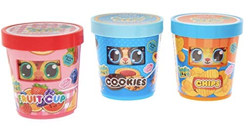 Foodie Roos Fruit Cup, Cookies and Chips Scented Plush Toy Bundle