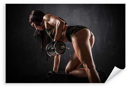 Postereck 3070 - Poster & Leinwand, Frau Fitness Sport Training Bodybuilding Größe Poster - 4:3-81.0cm x 61.0cm