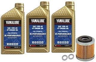 Oil Change Kit Yamalube Hi-Perf. Full-Synthetic 10W-40 for Yamaha Viking VI 700 4x4 2015-2019