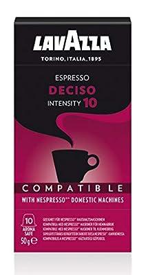 Lavazza Nespresso Compatible Deciso Coffee Capsules (1 Pack of 10)