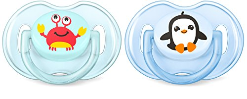 Philips AVENT SCF169/35 - Chupete (Chupete clásico para bebés, Silicona, Multicolor, 6 mes(es), Inglaterra, 2 pieza(s))