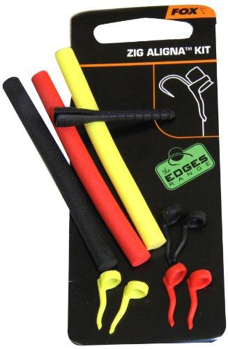 Fox Zig Aligna Kit 6x Sleeves 3x Zig foam 1x Montierhilfe für Zig Rig zum Karpfenanglen, Zigrig, Karpfenrig, Karpfenmontage