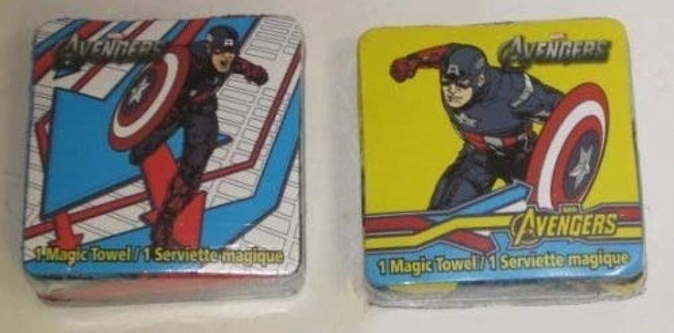 和疑わしい貝殻2 Different AVENGERS Captain America Magic Pop Up TOWEL Wash Cloths