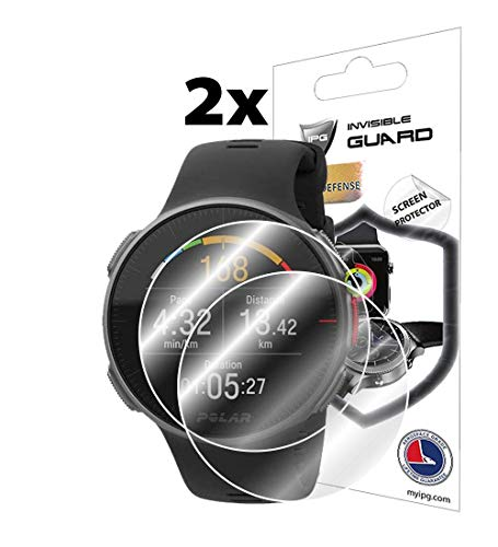 IPG for Polar Vantage V Screen Protector 2 Units Invisible Ultra HD Clear Film Anti Scratch Skin Guard - Smooth/Self-Healing/Bubble -Free by