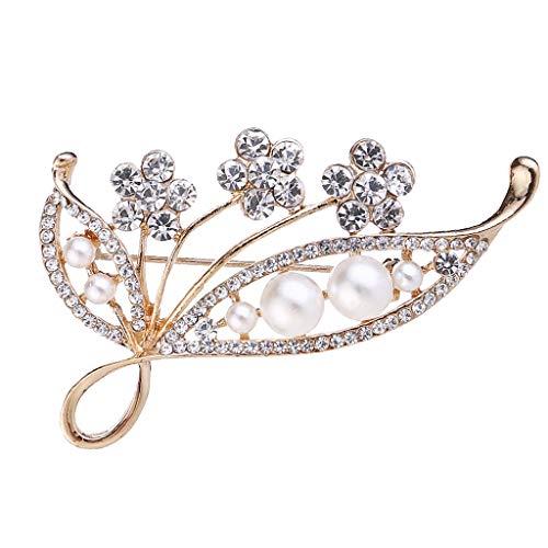 sharprepublic Lady Girls Rhinestone Flower Pin De Seguridad Broche Traje Suéter Bufandas Clip