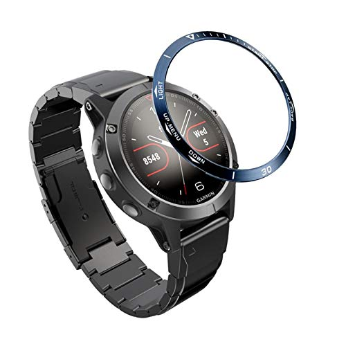 XUEXIU Reloj Anillo De Bisel para Garmin Fenix 5 Smart Bracele Bisel Styling Styling Cubierta De La Caja De Acero Inoxidable Anti-Scray Protection Marco (Color : Sand Pink)