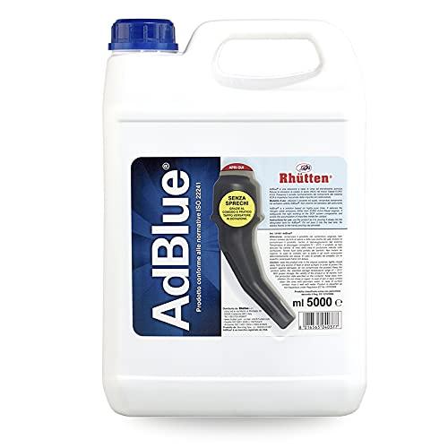 Rhütten, AdBlue per Motori Diesel, Additivo di Sintesi a Base di Urea, Preserva l'Andamento dei componenti del SCR, Blocca l'Accumulo delle Impurità nel Catalizzatore, Dotato di Tappo Versatore, 5L