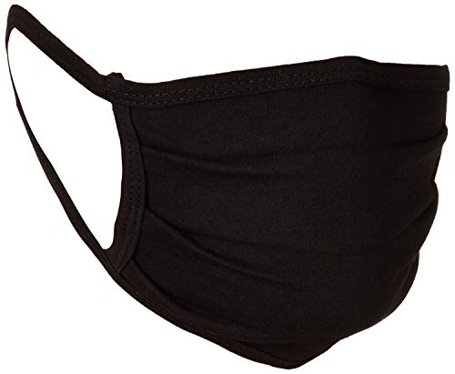 Amazon Essentials Reusable Face Cover, Black (Pack of 3)