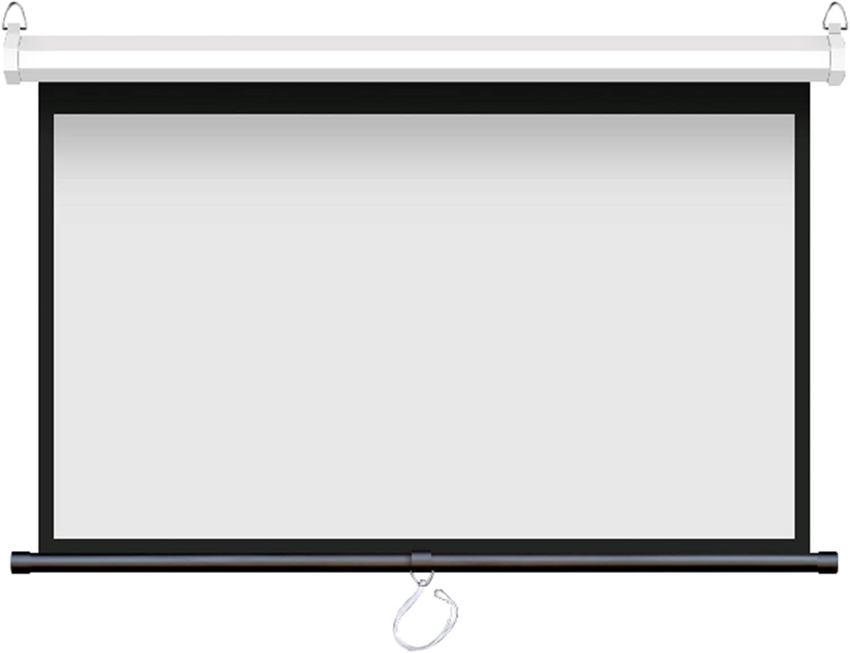 Max 60% OFF LIUU Projector Screen Pull Many popular brands Down Proj Portable 179° Angle Wide