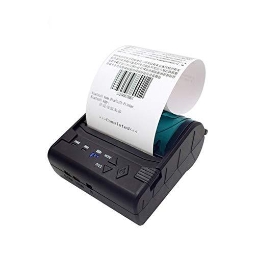 YXS Tragbarer Thermodrucker, Ticketdrucker, tragbare Mini-Wireless-und Thermodirekt-High-Speed-Drucker, Unterstützung mehrsprachig, unterstützt Bluetooth 4.0,Schwarz