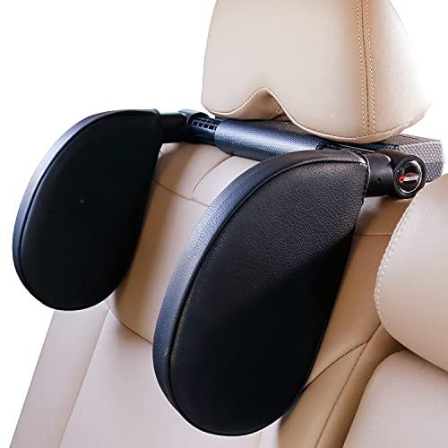 Oasser poggiatesta auto staccabile auto collo vagone divano cuscino regolabile 180 gradi poggiatesta laterale a doppia faccia è facile da installare, adatto per bambini e adulti CA1 (nero)