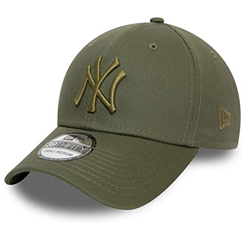 New Era Gorra béisbol 39THIRTY MLB League Essential NY Yankees Oliva Oscuro...