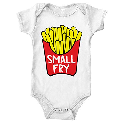 Tcombo Small Fry - Fast Food Matching Bodysuit (White, 12 Months)
