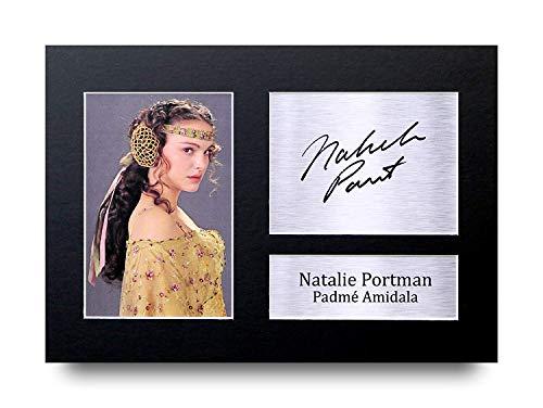 HWC Trading Natalie Portman A4 Ungerahmt Signiert Gedruckt Autogramme Bild Druck-Fotoanzeige Geschenk Für Star Wars Padmé Amidala Filmfans