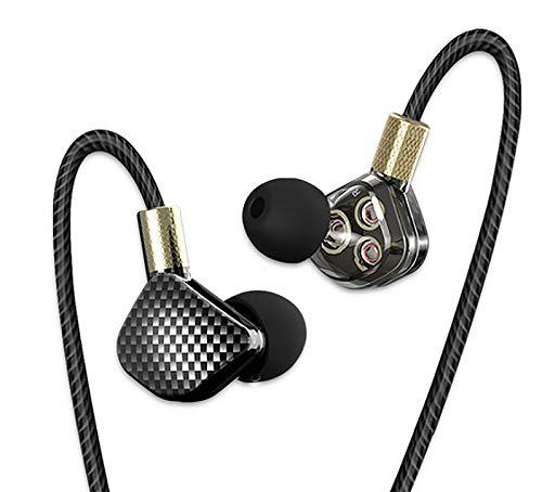 QKZ KD6 - Auriculares in-ear de alta definición (Hi-Fi, sin micrófono, sonido de gran calidad, con subwoofer Deep Bass, controlador de 6 canales (106 dB)
