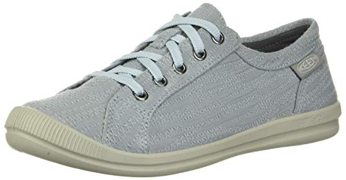 KEEN Women's Lorelai Sneaker Hemp, Blue, 6.5