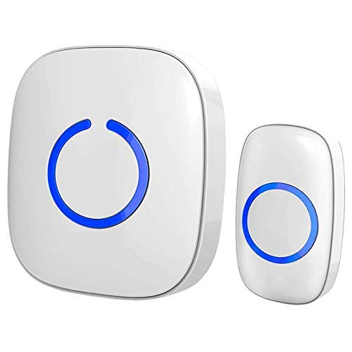 SadoTech Wireless Doorbell and Chimes Wireless Kit for Home At Over 1000-feet Range with 52 USA Doorbell Chime 4 Levels Adjustable Volume and LED Flash Model C