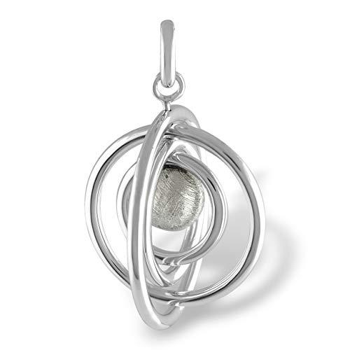 Starborn Muonionalusta Meteorite Orbit Sterling Silver Pendant