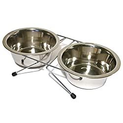 Quality stainless steel wire double diner Dishwasher safe. Suitable for dogs