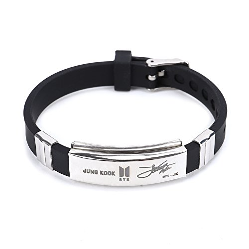 Yuxareen Kpop BTS Bangtan Boys Hip Hop Team Stainless Steel Cuff Bangle Bracelet Wristband Bracelets (JUNG KOOK)